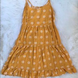 Mossimo Mustard Sunflower Dress Medium